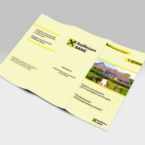 Mortgage loan brochure for Raiffeisenbank Bulgaria