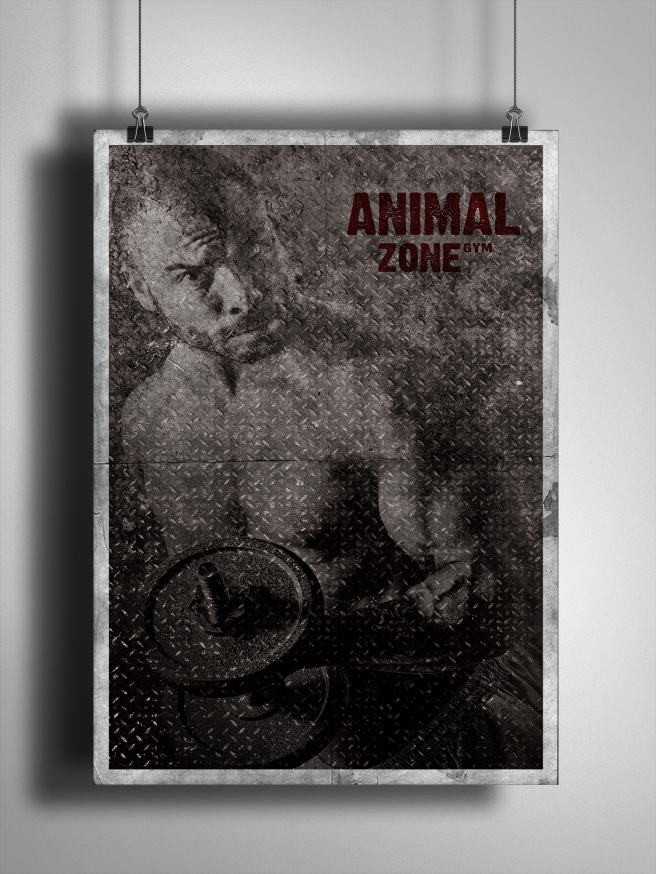Advertising poster for Animal Zone Gym