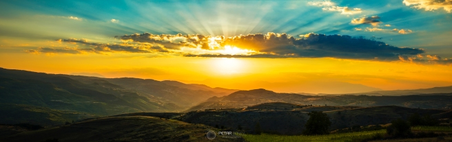 Sunset of a beautiul Rhodope mountain