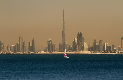 A view from Jumeirah Palm