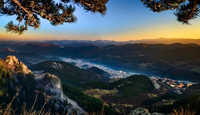 The town of Smolyan, Bulgaria