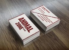 Business cards for Animal Zone Gym