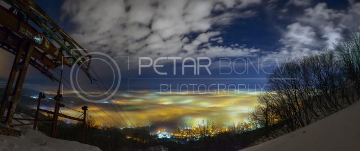 Sofia, Bulgaria during misty season