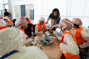 An educational event organized by Airbus, United Arab Emirates