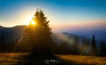 Sunrise in Rhodope mountaines