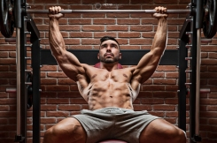 Bodybuilder workout for chest.