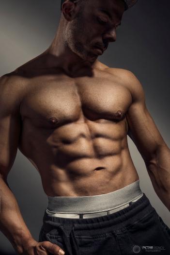 Photo shoot of fitness model